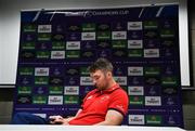 15 April 2019; Captain Peter O'Mahony during a Munster Rugby Press Conference at University of Limerick in Limerick. Photo by Brendan Moran/Sportsfile