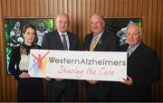 15 April 2019; In attendance during the GAA's 5 charities 2019 announcement are Uachtarán Chumann Lúthchleas Gael John Horan, second from right, with from the Western Alzheimers charity, from left, Deirdre Walsh, Fundraising Manager, Pat Holmes, CEO and Pat McHugh, board member, at Croke Park in Dublin. Photo by David Fitzgerald/Sportsfile