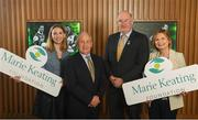 15 April 2019; In attendance during the GAA's 5 charities 2019 announcement are Uachtarán Chumann Lúthchleas Gael John Horan, second from right, with from the Marie Keating Foundation, from left, Jennifer Cimerman, Communications Manager, Sean Boylan, Ambassador and Liz Yeates, CEO, at Croke Park in Dublin. Photo by David Fitzgerald/Sportsfile