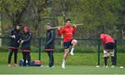 15 April 2019; Joey Carbery, centre, during Munster Rugby Squad Training at University of Limerick in Limerick. Photo by Brendan Moran/Sportsfile