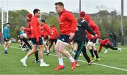 15 April 2019; Rory Scannell during Munster Rugby Squad Training at University of Limerick in Limerick. Photo by Brendan Moran/Sportsfile