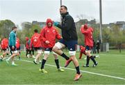 15 April 2019; Tadhg Beirne during Munster Rugby Squad Training at University of Limerick in Limerick. Photo by Brendan Moran/Sportsfile