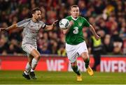 12 April 2019; Stephen Elliott of Republic of Ireland XI in action against Richie Partridge of Liverpool FC Legends during the Sean Cox Fundraiser match between the Republic of Ireland XI and Liverpool FC Legends at the Aviva Stadium in Dublin. Photo by Sam Barnes/Sportsfile
