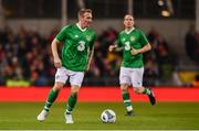 12 April 2019; Liam Lawrence of Republic of Ireland XI during the Sean Cox Fundraiser match between the Republic of Ireland XI and Liverpool FC Legends at the Aviva Stadium in Dublin. Photo by Sam Barnes/Sportsfile