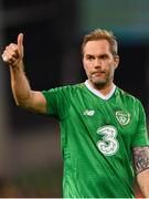 12 April 2019; Jason McAteer of Republic of Ireland XI following the Sean Cox Fundraiser match between the Republic of Ireland XI and Liverpool FC Legends at the Aviva Stadium in Dublin. Photo by Sam Barnes/Sportsfile