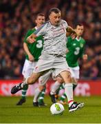 12 April 2019; John Aldridge of Liverpool FC Legends during the Sean Cox Fundraiser match between the Republic of Ireland XI and Liverpool FC Legends at the Aviva Stadium in Dublin. Photo by Sam Barnes/Sportsfile