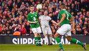 12 April 2019; Robbie Fowler of Liverpool FC Legends in action against Kevin Foley, left, and Steven Reid of Republic of Ireland XI during the Sean Cox Fundraiser match between the Republic of Ireland XI and Liverpool FC Legends at the Aviva Stadium in Dublin. Photo by Sam Barnes/Sportsfile
