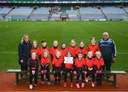 15 April 2019; The St Marys Maguiresbridge team from Co. Fermanagh during the LGFA U10 Go Games Activity Day at Croke Park in Dublin. Photo by Harry Murphy/Sportsfile