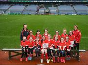 15 April 2019; The Newtownbutler team from Co. Fermanagh during the LGFA U10 Go Games Activity Day at Croke Park in Dublin. Photo by Harry Murphy/Sportsfile