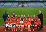 15 April 2019; The St. Brigids team from Co. Mayo during the LGFA U10 Go Games Activity Day at Croke Park in Dublin. Photo by Harry Murphy/Sportsfile