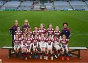 15 April 2019; The Annaghdown team from Co. Galway during the LGFA U10 Go Games Activity Day at Croke Park in Dublin. Photo by Harry Murphy/Sportsfile