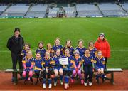 15 April 2019; The Grenagh team, Co. Cork during the LGFA U10 Go Games Activity Day at Croke Park in Dublin. Photo by Harry Murphy/Sportsfile