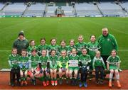 15 April 2019; The Wolfe Tones Na Sionna team, from Co. Clare, during the LGFA U10 Go Games Activity Day at Croke Park in Dublin. Photo by Harry Murphy/Sportsfile