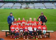 15 April 2019; The Galtee Rovers team from Co. Tipperary during the LGFA U10 Go Games Activity Day at Croke Park in Dublin. Photo by Harry Murphy/Sportsfile
