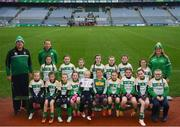 15 April 2019; The Delanys team, Co. Cork, during the LGFA U10 Go Games Activity Day at Croke Park in Dublin. Photo by Harry Murphy/Sportsfile
