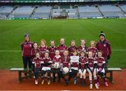 15 April 2019; The Shamrock Gaels team from Co. Sligo during the LGFA U10 Go Games Activity Day at Croke Park in Dublin. Photo by Harry Murphy/Sportsfile