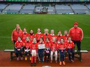 15 April 2019; The Mungret St. Pauls team from Co. Limerick during the LGFA U10 Go Games Activity Day at Croke Park in Dublin. Photo by Harry Murphy/Sportsfile