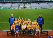 15 April 2019; The Glencar Manorhamilton team from Co. Leitrim during the LGFA U10 Go Games Activity Day at Croke Park in Dublin. Photo by Harry Murphy/Sportsfile