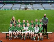 15 April 2019; The Charlestown team, Co. Mayo, during the LGFA U10 Go Games Activity Day at Croke Park in Dublin. Photo by Harry Murphy/Sportsfile