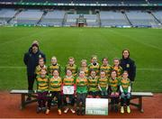 15 April 2019; The Edendork team. Co. Tyrone, during the LGFA U10 Go Games Activity Day at Croke Park in Dublin. Photo by Harry Murphy/Sportsfile