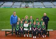 15 April 2019; The Shamrocks team from Co. Waterford during the LGFA U10 Go Games Activity Day at Croke Park in Dublin. Photo by Harry Murphy/Sportsfile