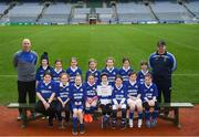 15 April 2019; The Killannin team from Co. Galway during the LGFA U10 Go Games Activity Day at Croke Park in Dublin. Photo by Harry Murphy/Sportsfile