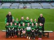 15 April 2019; The Patrick Sarsfields team, Co. Antrim, during the LGFA U10 Go Games Activity Day at Croke Park in Dublin. Photo by Harry Murphy/Sportsfile