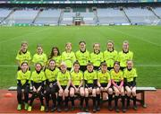 15 April 2019; The referees during the LGFA U10 Go Games Activity Day at Croke Park in Dublin. Photo by Harry Murphy/Sportsfile