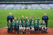15 April 2019; The Naomh Ciaran team from Co. Offaly during the LGFA U10 Go Games Activity Day at Croke Park in Dublin. Photo by Harry Murphy/Sportsfile