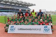 14 April 2019; The Rower Inistioge, Co Kilkenny, team at the Littlewoods Ireland Go Games Provincial Days in Croke Park. This year over 6,000 boys and girls aged between six and twelve represented their clubs in a series of mini blitzes and just like their heroes got to play in Croke Park. Photo by Piaras Ó Mídheach/Sportsfile
