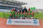 14 April 2019; The Milltown, Co Kildare, team at the Littlewoods Ireland Go Games Provincial Days in Croke Park. This year over 6,000 boys and girls aged between six and twelve represented their clubs in a series of mini blitzes and just like their heroes got to play in Croke Park. Photo by Piaras Ó Mídheach/Sportsfile