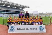 14 April 2019; The Faythe Harriers, Co Wexford, team at the Littlewoods Ireland Go Games Provincial Days in Croke Park. This year over 6,000 boys and girls aged between six and twelve represented their clubs in a series of mini blitzes and just like their heroes got to play in Croke Park. Photo by Piaras Ó Mídheach/Sportsfile