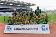 14 April 2019; The Tubberclair, Co Westmeath, team at the Littlewoods Ireland Go Games Provincial Days in Croke Park. This year over 6,000 boys and girls aged between six and twelve represented their clubs in a series of mini blitzes and just like their heroes got to play in Croke Park. Photo by Piaras Ó Mídheach/Sportsfile