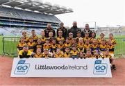 14 April 2019; The Piltown, Co Kilkenny, team at the Littlewoods Ireland Go Games Provincial Days in Croke Park. This year over 6,000 boys and girls aged between six and twelve represented their clubs in a series of mini blitzes and just like their heroes got to play in Croke Park. Photo by Piaras Ó Mídheach/Sportsfile