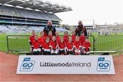 14 April 2019; The Naomh Malachy, Co Louth, team at the Littlewoods Ireland Go Games Provincial Days in Croke Park. This year over 6,000 boys and girls aged between six and twelve represented their clubs in a series of mini blitzes and just like their heroes got to play in Croke Park. Photo by Piaras Ó Mídheach/Sportsfile