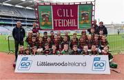14 April 2019; The Kiltale, Co Meath, team at the Littlewoods Ireland Go Games Provincial Days in Croke Park. This year over 6,000 boys and girls aged between six and twelve represented their clubs in a series of mini blitzes and just like their heroes got to play in Croke Park. Photo by Piaras Ó Mídheach/Sportsfile