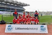 14 April 2019; The St. Mary's Maudlintown, Co Wexford, team at the Littlewoods Ireland Go Games Provincial Days in Croke Park. This year over 6,000 boys and girls aged between six and twelve represented their clubs in a series of mini blitzes and just like their heroes got to play in Croke Park. Photo by Piaras Ó Mídheach/Sportsfile