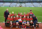 15 April 2019; The Shamrocks team, Co. Offaly, during the LGFA U10 Go Games Activity Day at Croke Park in Dublin. Photo by Harry Murphy/Sportsfile