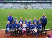 15 April 2019; The Erins Own team, Co. Kilkenny, during the LGFA U10 Go Games Activity Day at Croke Park in Dublin. Photo by Harry Murphy/Sportsfile
