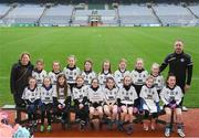 15 April 2019; The Emyvale team, Co. Monaghan, during the LGFA U10 Go Games Activity Day at Croke Park in Dublin. Photo by Harry Murphy/Sportsfile