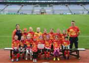 15 April 2019; The Davidstown/ Courtnacuddy team, Co. Wexford, during the LGFA U10 Go Games Activity Day at Croke Park in Dublin. Photo by Harry Murphy/Sportsfile