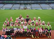 15 April 2019; The Clara team, Co. Kilkenny, during the LGFA U10 Go Games Activity Day at Croke Park in Dublin. Photo by Harry Murphy/Sportsfile