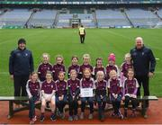 15 April 2019; The Bredagh team, Co. Down, during the LGFA U10 Go Games Activity Day at Croke Park in Dublin. Photo by Harry Murphy/Sportsfile
