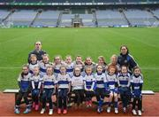15 April 2019; The Dromintee St Patricks team, Co. Armagh, during the LGFA U10 Go Games Activity Day at Croke Park in Dublin. Photo by Harry Murphy/Sportsfile