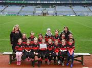 15 April 2019; The Mount Leinster Rangers team, Co. Carlow, during the LGFA U10 Go Games Activity Day at Croke Park in Dublin. Photo by Harry Murphy/Sportsfile