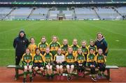 15 April 2019; The Cooly Kickhams team, Co. Louth,  during the LGFA U10 Go Games Activity Day at Croke Park in Dublin. Photo by Harry Murphy/Sportsfile
