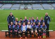 15 April 2019; The St Annes team, Co. Carlow, during the LGFA U10 Go Games Activity Day at Croke Park in Dublin. Photo by Harry Murphy/Sportsfile