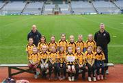 15 April 2019; The Na Fianna team, Co. Meath, during the LGFA U10 Go Games Activity Day at Croke Park in Dublin. Photo by Harry Murphy/Sportsfile