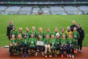 15 April 2019; The Park/ Ratheniska team, Co. Laois, during the LGFA U10 Go Games Activity Day at Croke Park in Dublin. Photo by Harry Murphy/Sportsfile