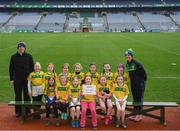 15 April 2019; The Ballyhaise team, Co. Cavan, during the LGFA U10 Go Games Activity Day at Croke Park in Dublin. Photo by Harry Murphy/Sportsfile